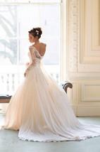Elegant Long Sleeve Lace Wedding Dresses 2016 Princess Chiffon Bridal Gowns