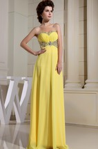 Adorable Chiffon Maxi Dress With Ruching and Beading