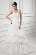 Strapped Pick-Up A-Line Gown With Lace