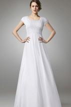 A-line Chiffon Long Wedding Dress With Empire Waist