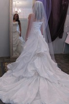 Sweetheart A-Line Taffeta Dress With Pick-Ups and Flowers