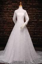 A-Line Tea-Length Off-The-Shoulder One-Shoulder Long Sleeve Tulle Lace Sequins Satin Dress