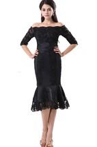 Off-the-shoulder Half-Sleeve Mermaid Lace Short Dress