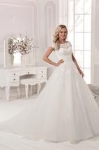 Illusion Back Short Sleeve Lace Top Applique Long Dress