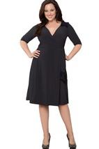 Half-sleeved V-neck Knee-length Dress With Pleats