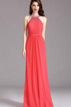 Empire Jewel Sleeveless Empire Chiffon Beading Dress