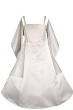 Sleeveless Satin Dress With Spagetti Straps and Shawl