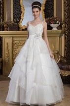 Lace Tulle A-Line Spaghetti Straps and Ball-Gown With Beading