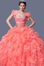 Ombre Ruffled Organza Quinceanera Dress