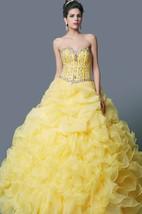Grand Sweetheart Layered Ruffled Organza Quinceanera Ball Gown With Bolero
