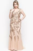 V Neck Cap Sleeve Trumpet Lace Long Dress With Low-v Back