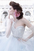 Gorgeous Floral Embroidered Lace Bodice Tulle Ball Gown