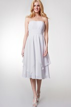 Fresh Layered A-line Dress with Pleated Bodice