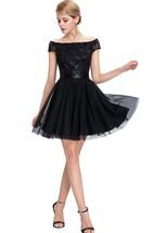 Sequin Luxury  Off-the-shoulder Short Tulle Dresses