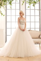 Ball Gown Maxi Sweetheart Sleeveless Backless Tulle Dress With Crystal Detailing