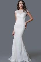 Ethereal Cap Sleeve Long Lace Sheath Dress