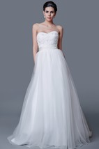 Elegant Organza Ball Gown With Flower Top