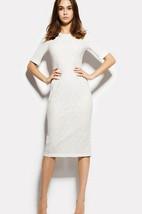 Bateau Half Sleeve Lace Sheath Knee Length Dress With Split