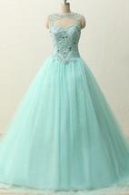 Long Straps Sweetheart Beading Brush Train Straps Tulle Lace Satin Dress