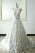 A-Line Tea-Length V-Neck Sleeveless Flower Zipper Lace-Up Back Chiffon Tulle Lace Satin Dress