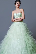 Classic Crystal-beaded Sweetheart Ruffled Tulle Quinceanera Ball Gown