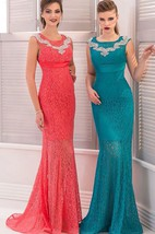Mermaid Floor-Length Sweep High-Neck Short Sleeve Empire Lace Beading Pleats Zipper Dress