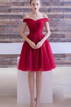 A-line Off-the-shoulder Short Mini Dress