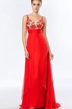 A-Line V-Neck Crystal Beadings Prom Dress