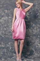 V-neck A-line Short Satin Dress With Bow
