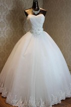 A-Line Ball Gown Maxi Off-The-Shoulder One-Shoulder Sweetheart Sleeveless Beading Corset Back Tulle Lace Satin Dress