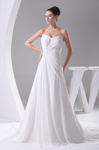 Sleeveless Pleated Floor-Length Chiffon Central Ruching and Dress With Beading