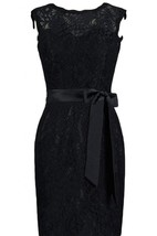 Short Illusion Neckline Dress With Keyhole Back