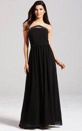 Scalloped Neckline Gown With Beading Details