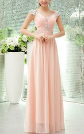 Sweetheart Rhinestone A-Line Long Prom Dress