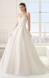 Sweetheart Noble Ball Gown With Court Train