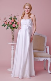 Sweetheart A-line Chiffon Floor Length Dress With Empire Waist