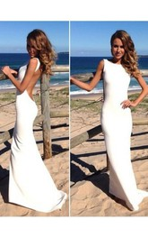 Mermaid High Neck Sleeveless Spandex Floor-Length Dresses