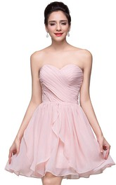 Gorgeous Sweetheart Short Homecoming Dress 2018 Chiffon