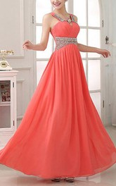 Charming Criss-Cross Beading A-Line Prom Dress