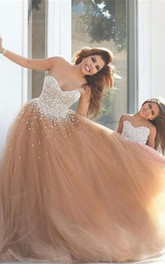 Gorgeous Sweetheart Beadings Prom Dresses 2018 Tulle Mother and Daughter Dress