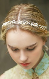 Western Style Bride Headdress Korean Crystal Handmade Headdress Headdress