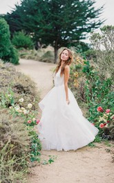 Multi Layered Tulle Bridal Skirt Lay With Structured Horsehair
