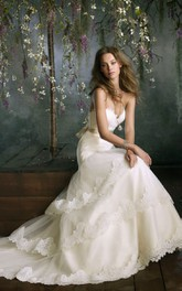 Fabulous Sweetheart Neckline Tiered Tulle Dress With Lace Appliques