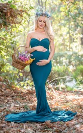 Mermaid Trumpet Sleeveless Empire Maternity Dress