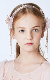 Cinderella Pendant Gauze Flowers Children Hair Accessories