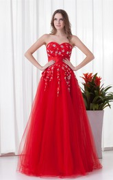 Glam Sleeveless Sweetheart Maxi Satin Net Special Occasion Dresses