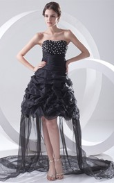 Delicate Organza Satin Sleeveless Asymmetrical Special Occasion Dresses