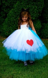 Mix Color Lovely Sleeveless Tulle Flower Girl Dress Ball Gown