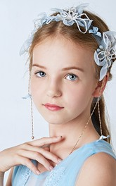 Beauty Fairy Pearl Flowers Flower Girl Hair Band