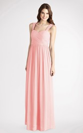 Long-Chiffon Sleeveless A-Line Charming Dress